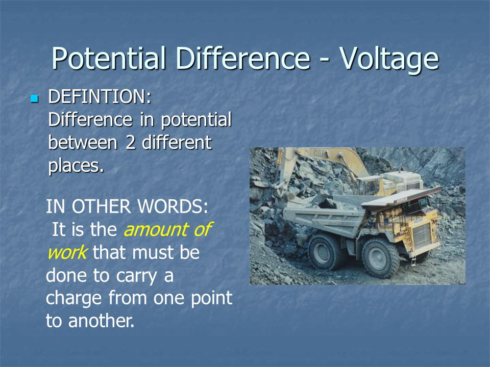 Potential Difference - Voltage