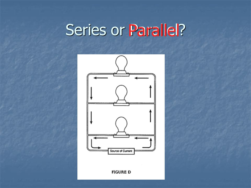 Series or Parallel Parallel