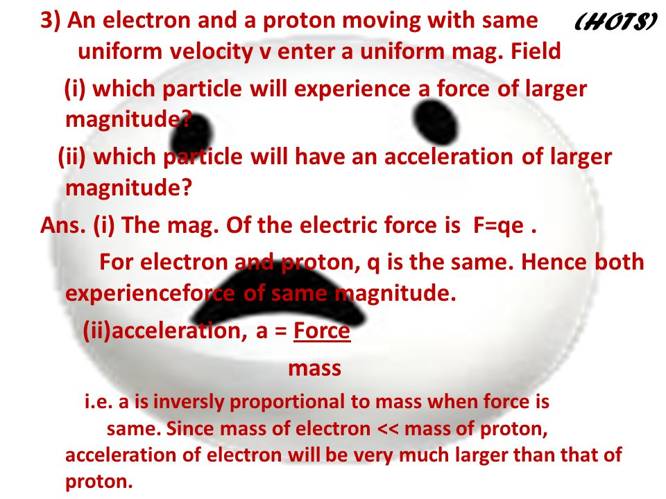 (i) which particle will experience a force of larger magnitude