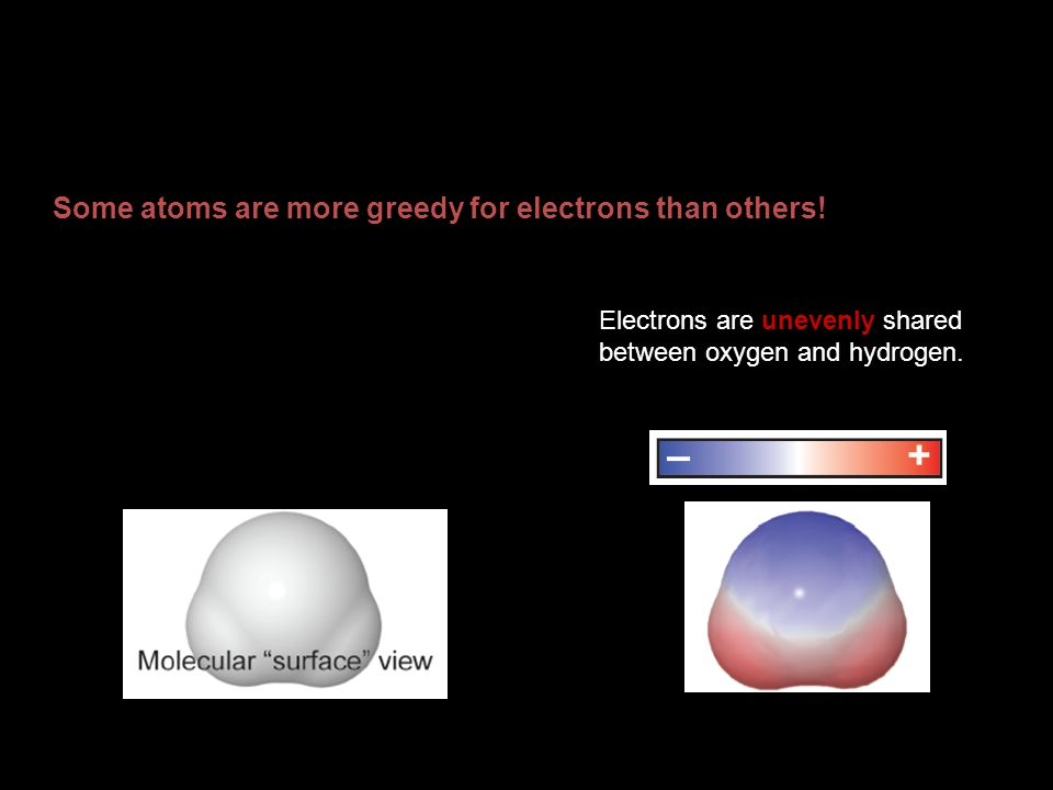 Some atoms are more greedy for electrons than others!