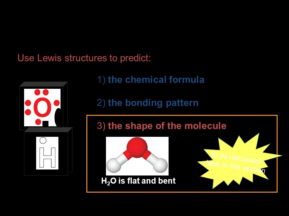 Use Lewis structures to predict: