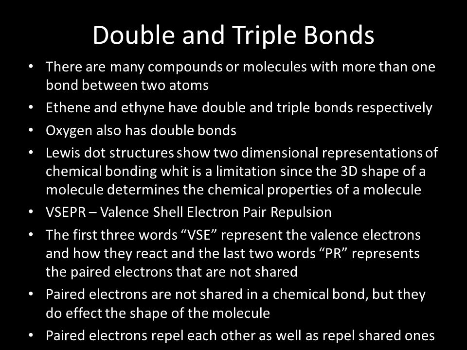 Double and Triple Bonds