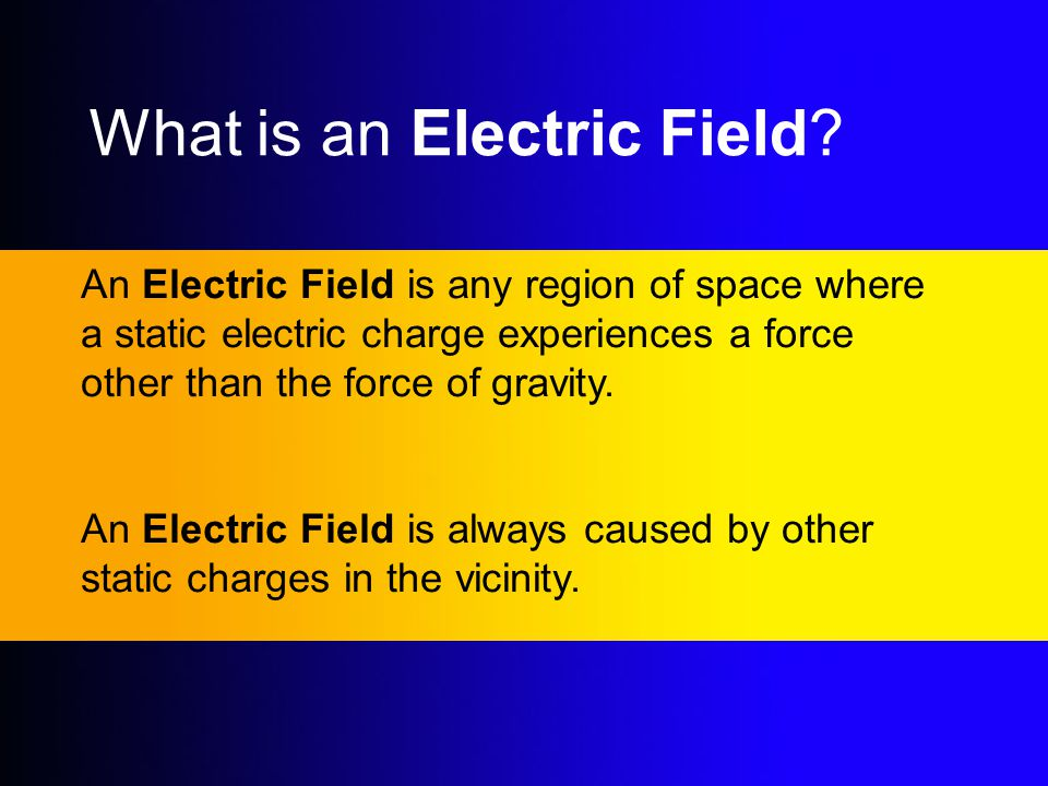 What is an Electric Field