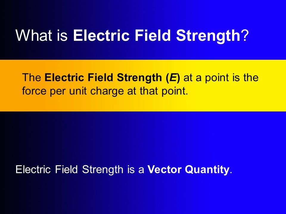 What is Electric Field Strength