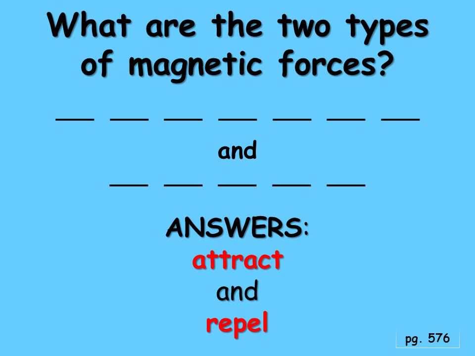 What are the two types of magnetic forces