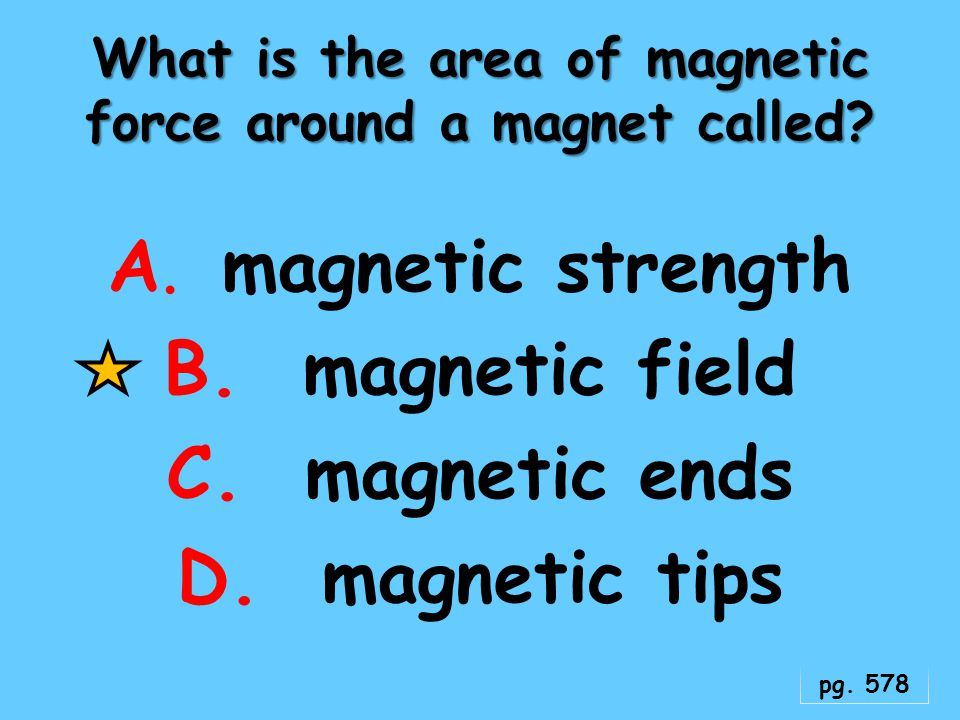What is the area of magnetic force around a magnet called