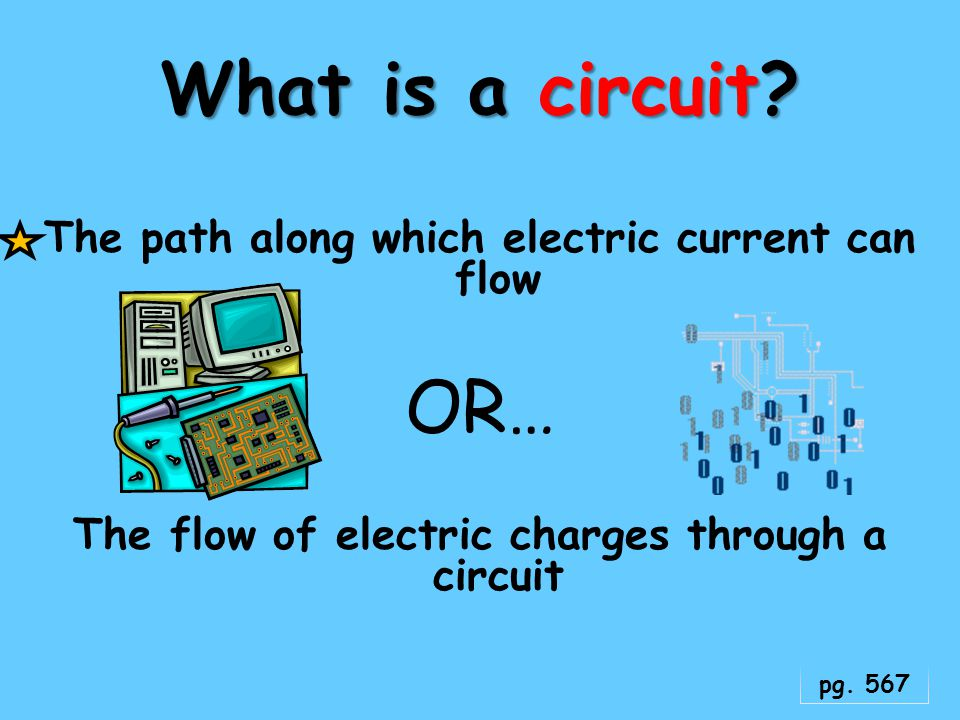 What is a circuit OR… The path along which electric current can flow