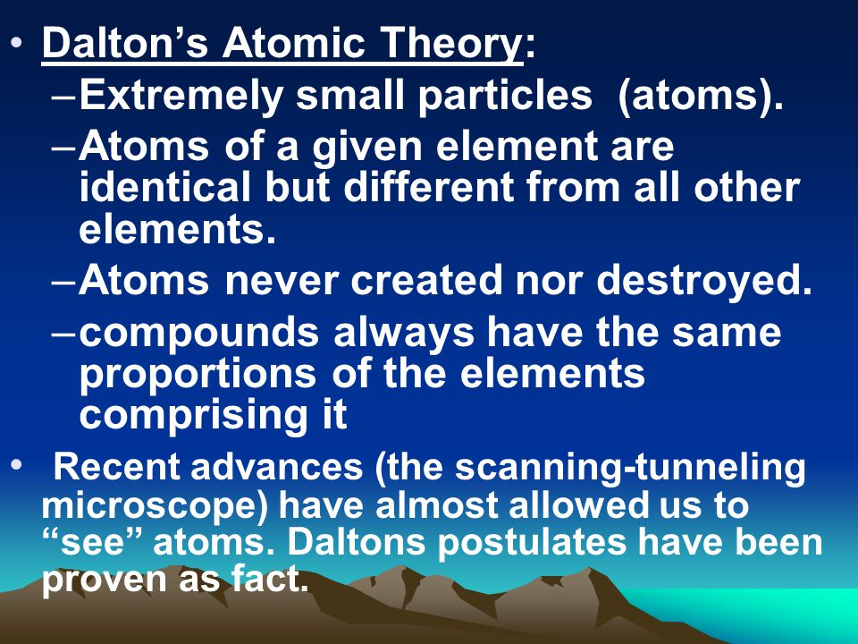 Dalton's Atomic Theory: