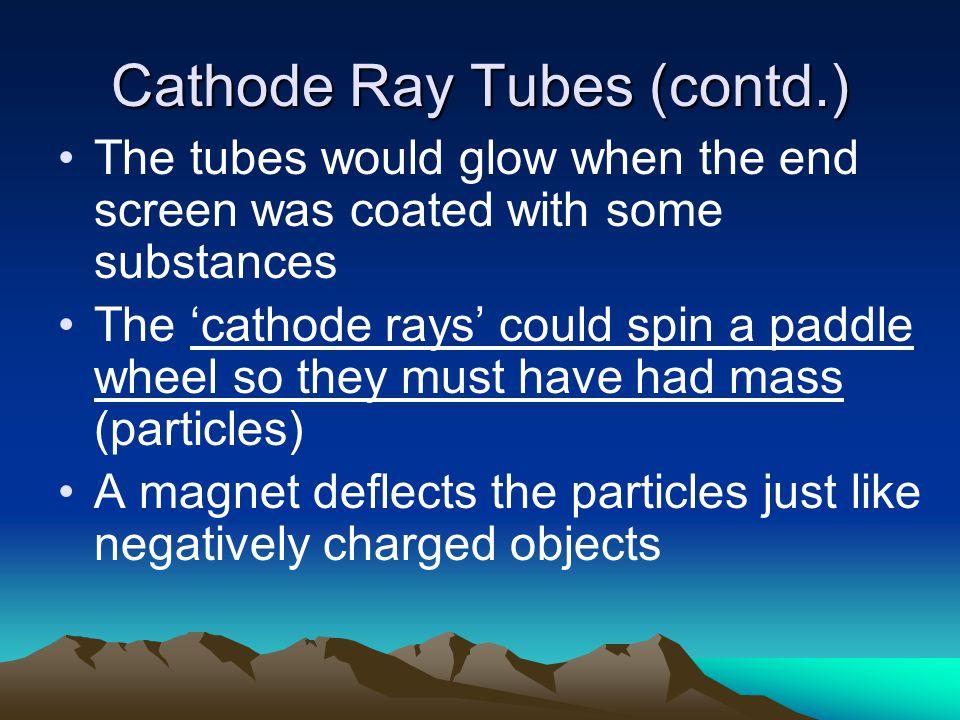 Cathode Ray Tubes (contd.)