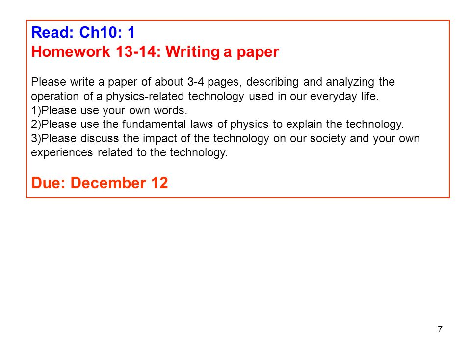 Homework 13-14: Writing a paper