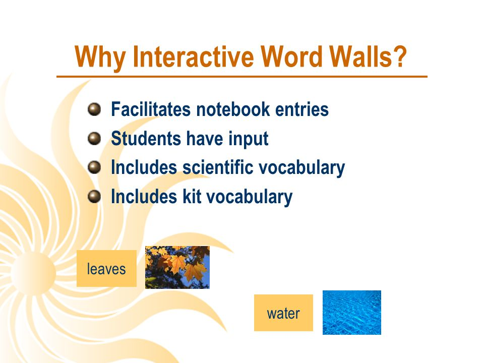 Why Interactive Word Walls