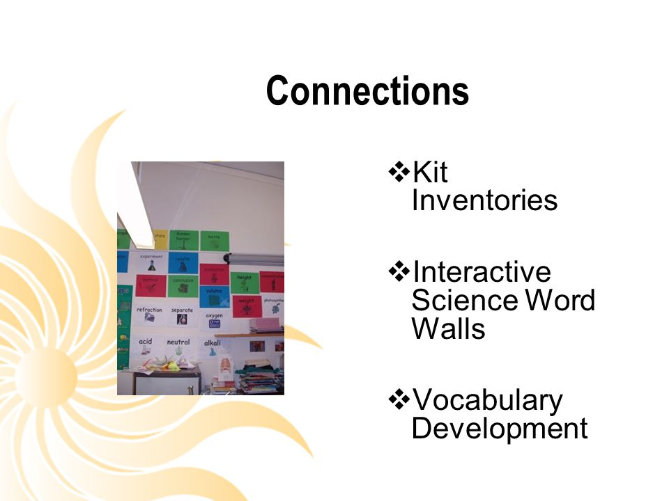 Connections Kit Inventories Interactive Science Word Walls
