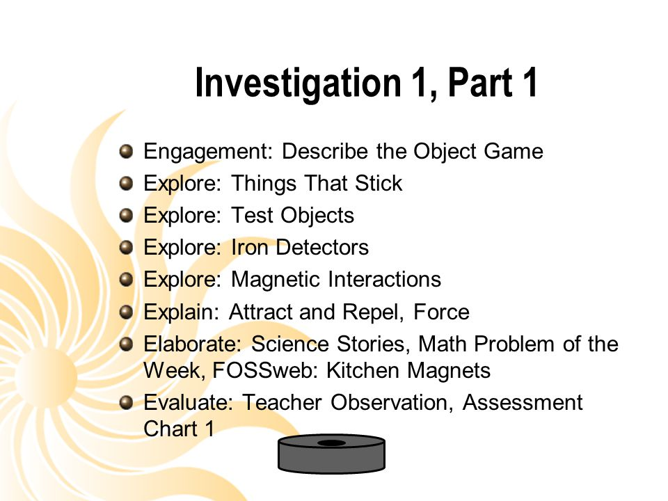Investigation 1, Part 1 Engagement: Describe the Object Game