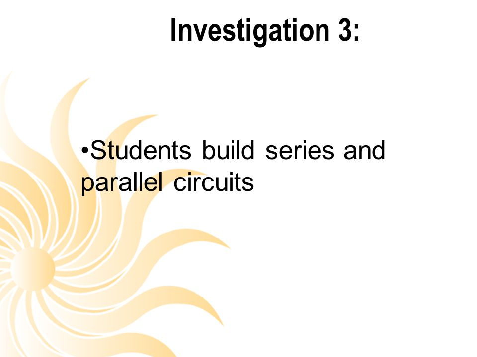 Students build series and parallel circuits