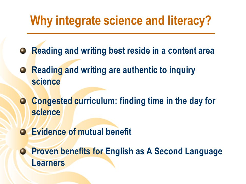 Why integrate science and literacy