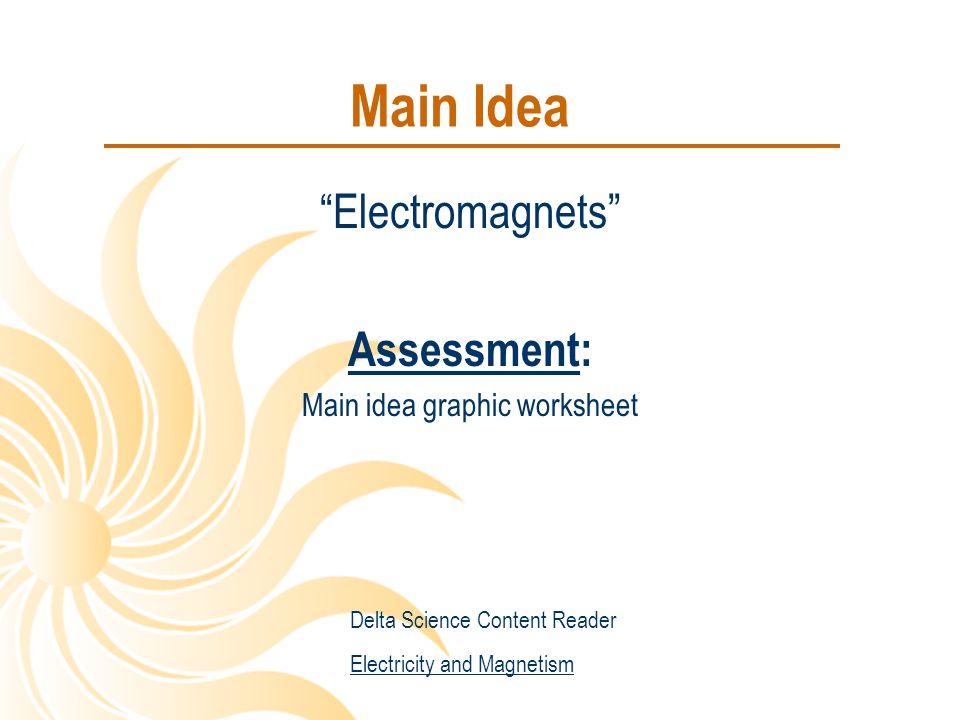 Main idea graphic worksheet