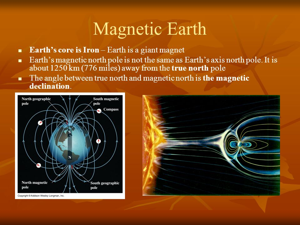 Magnetic Earth Earth's core is Iron – Earth is a giant magnet