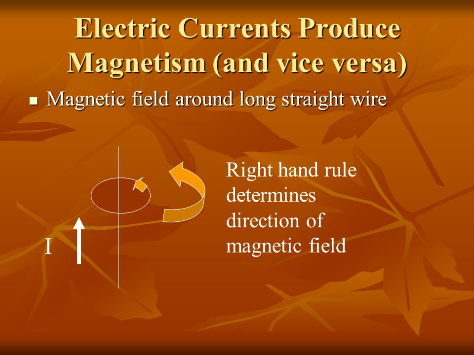 Electric Currents Produce Magnetism (and vice versa)