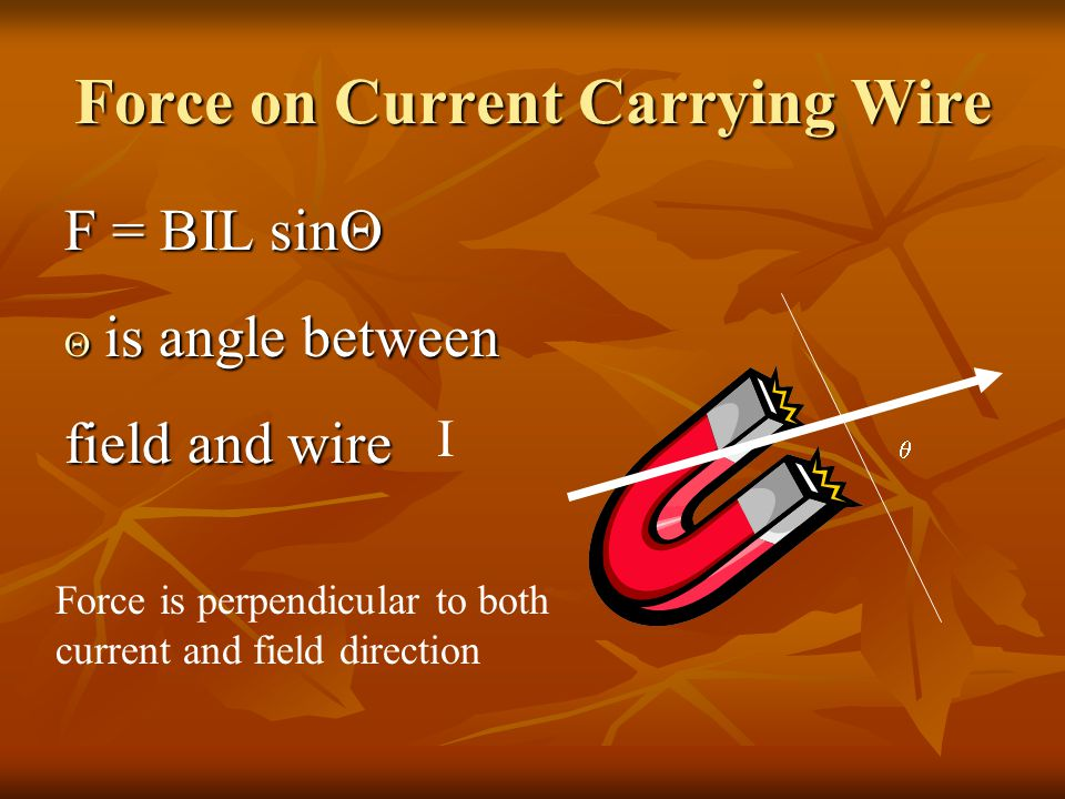 Force on Current Carrying Wire