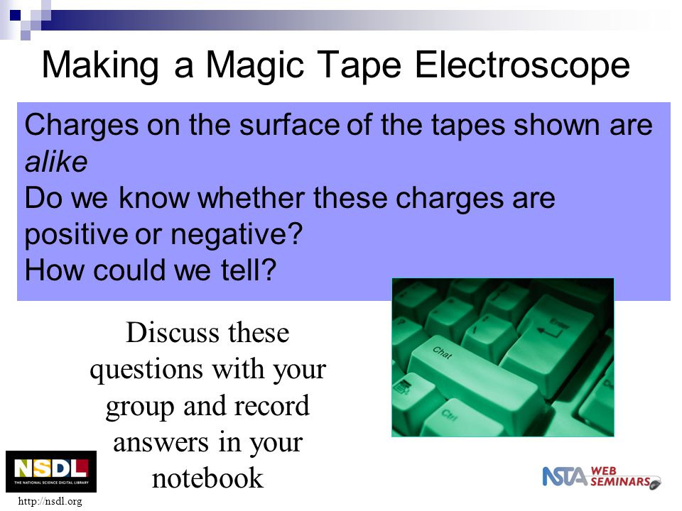Making a Magic Tape Electroscope