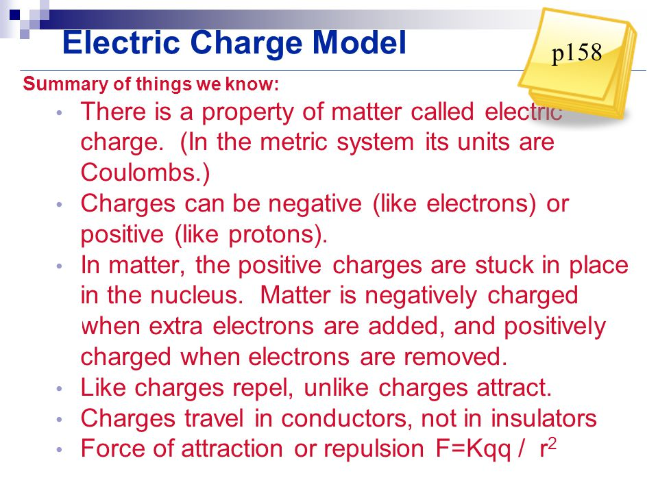 Electric Charge Model p158
