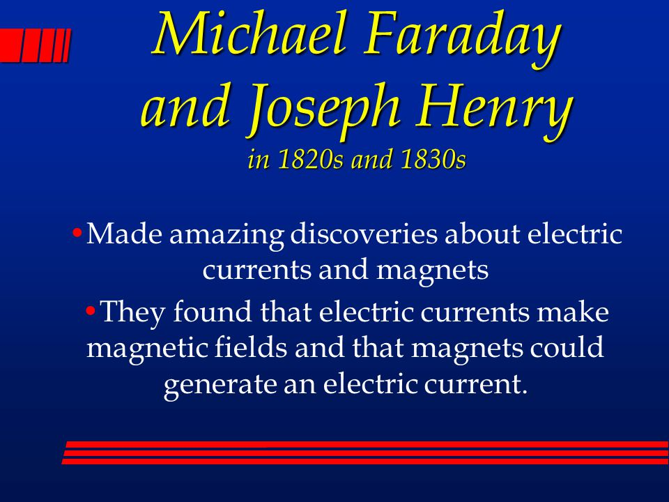 Michael Faraday and Joseph Henry in 1820s and 1830s