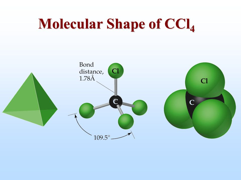 Molecular Shape of CCl4
