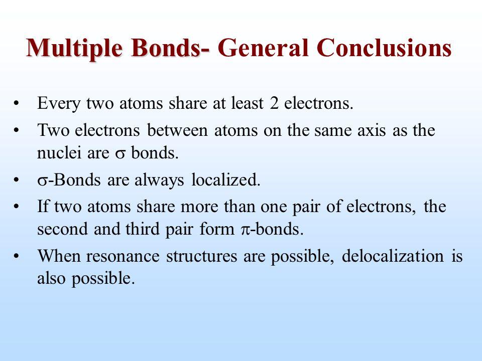 Multiple Bonds- General Conclusions