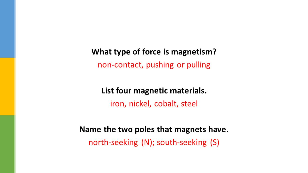 What type of force is magnetism