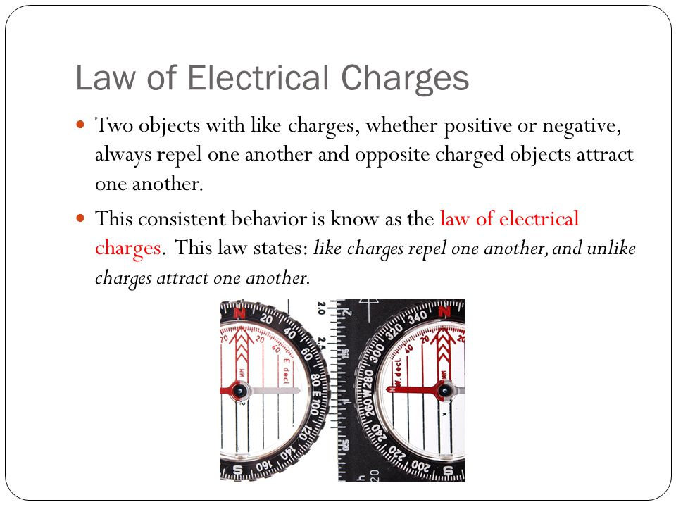 Law of Electrical Charges