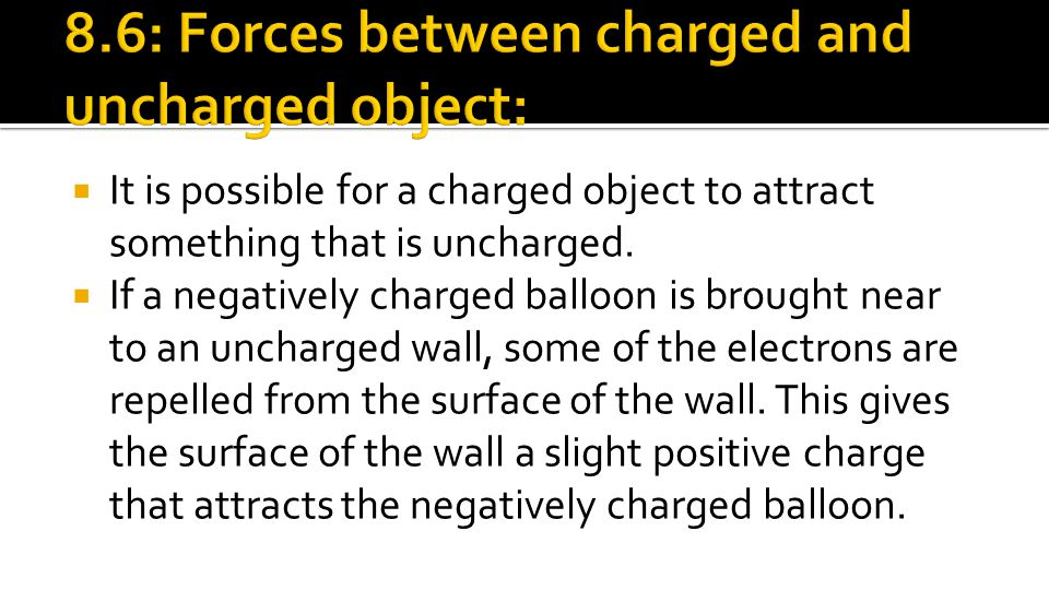 8.6: Forces between charged and uncharged object: