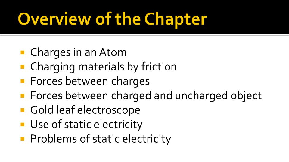 Overview of the Chapter