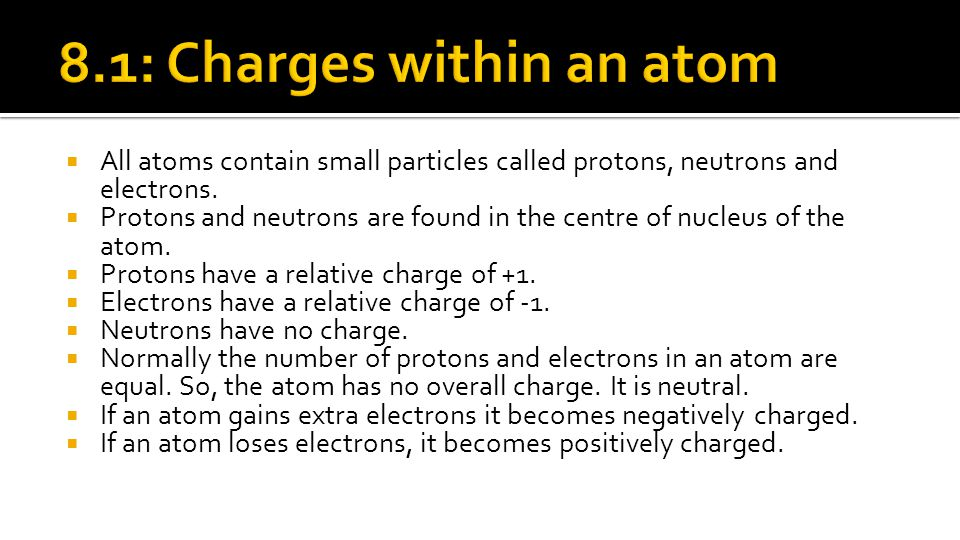8.1: Charges within an atom