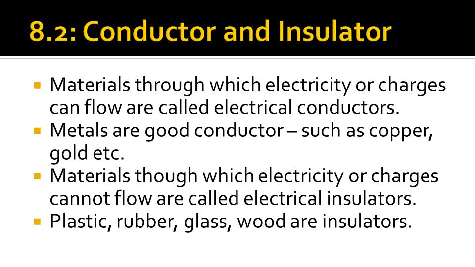 8.2: Conductor and Insulator