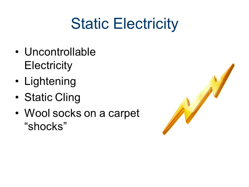 Static Electricity Uncontrollable Electricity Lightening Static Cling