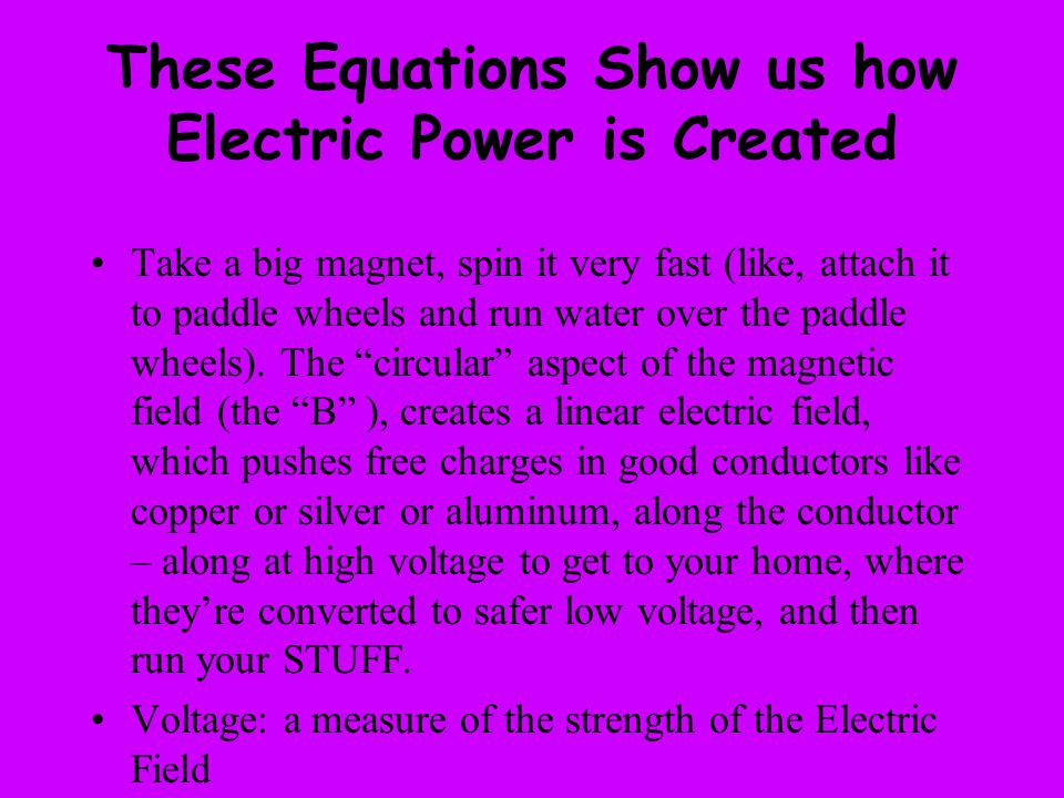 These Equations Show us how Electric Power is Created