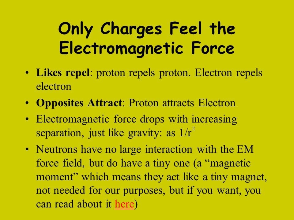 Only Charges Feel the Electromagnetic Force
