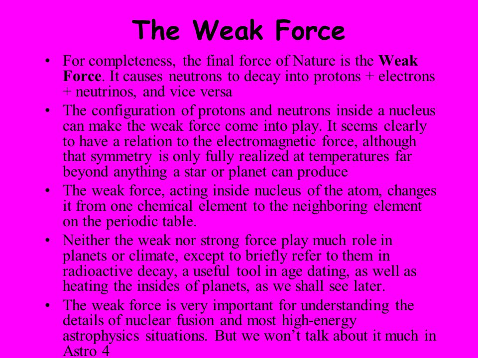 The Weak Force