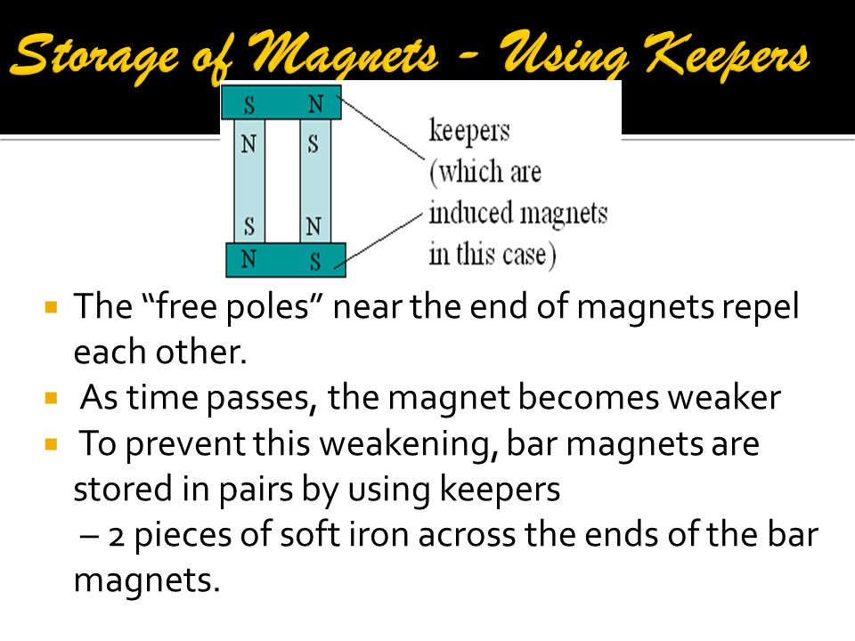 Storage of Magnets - Using Keepers