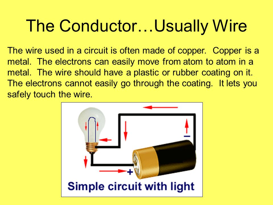 The Conductor…Usually Wire