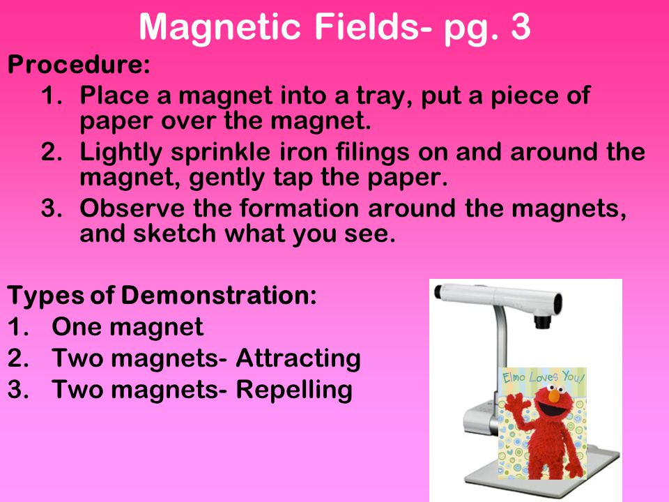 Magnetic Fields- pg. 3 Procedure: