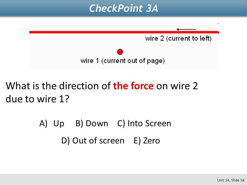 What is the direction of the force on wire 2 due to wire 1