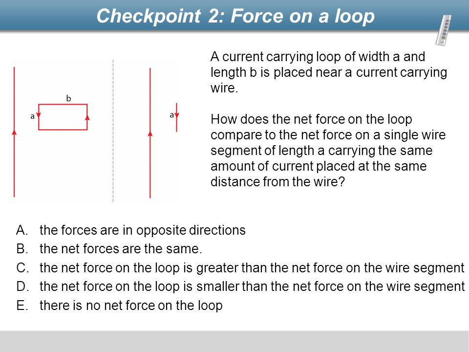 Checkpoint 2: Force on a loop