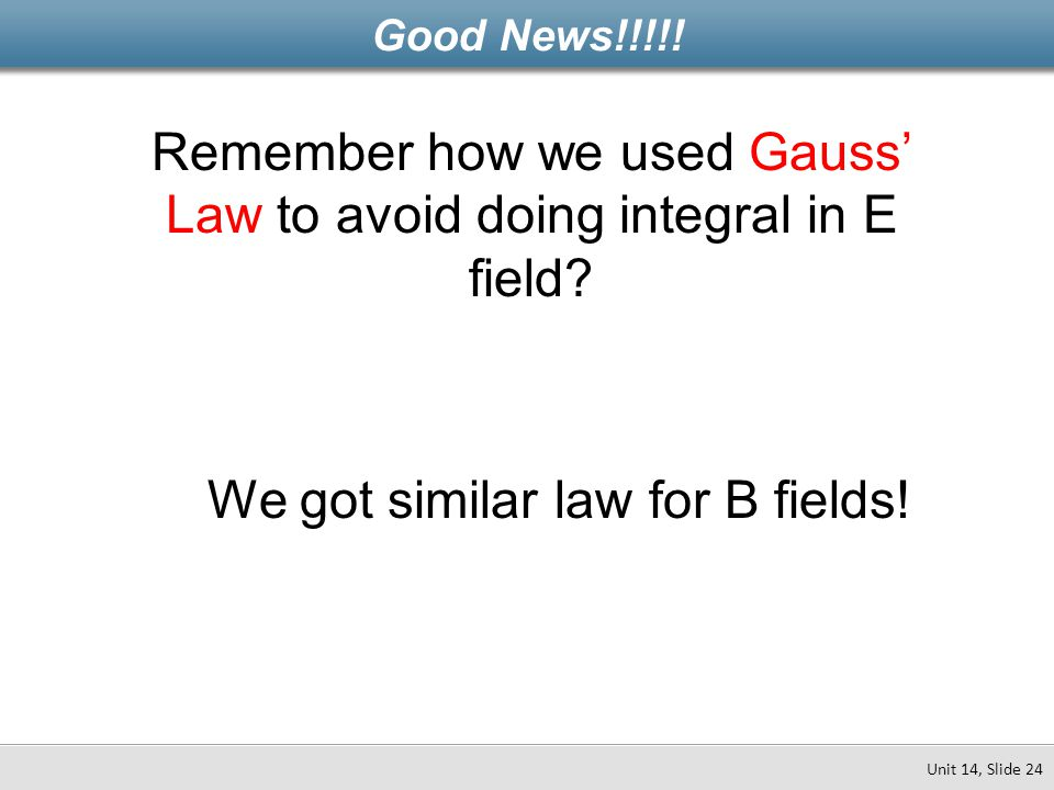 Remember how we used Gauss' Law to avoid doing integral in E field