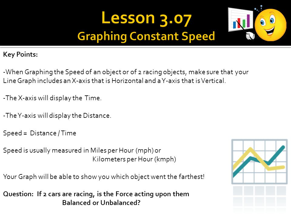 Lesson 3.07 Graphing Constant Speed