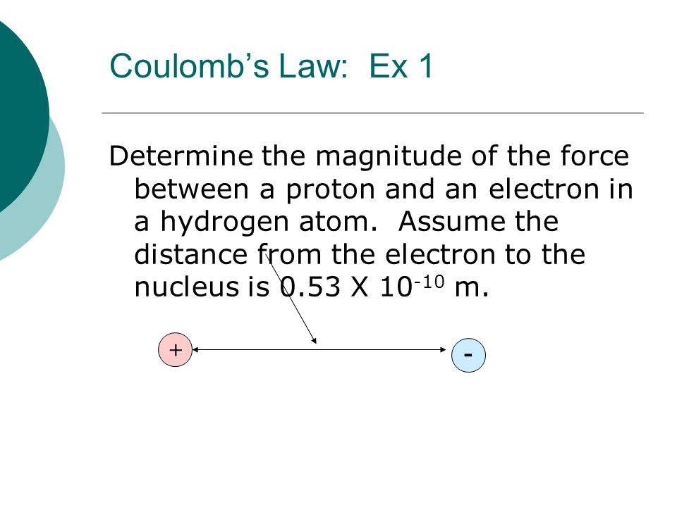 Coulomb's Law: Ex 1
