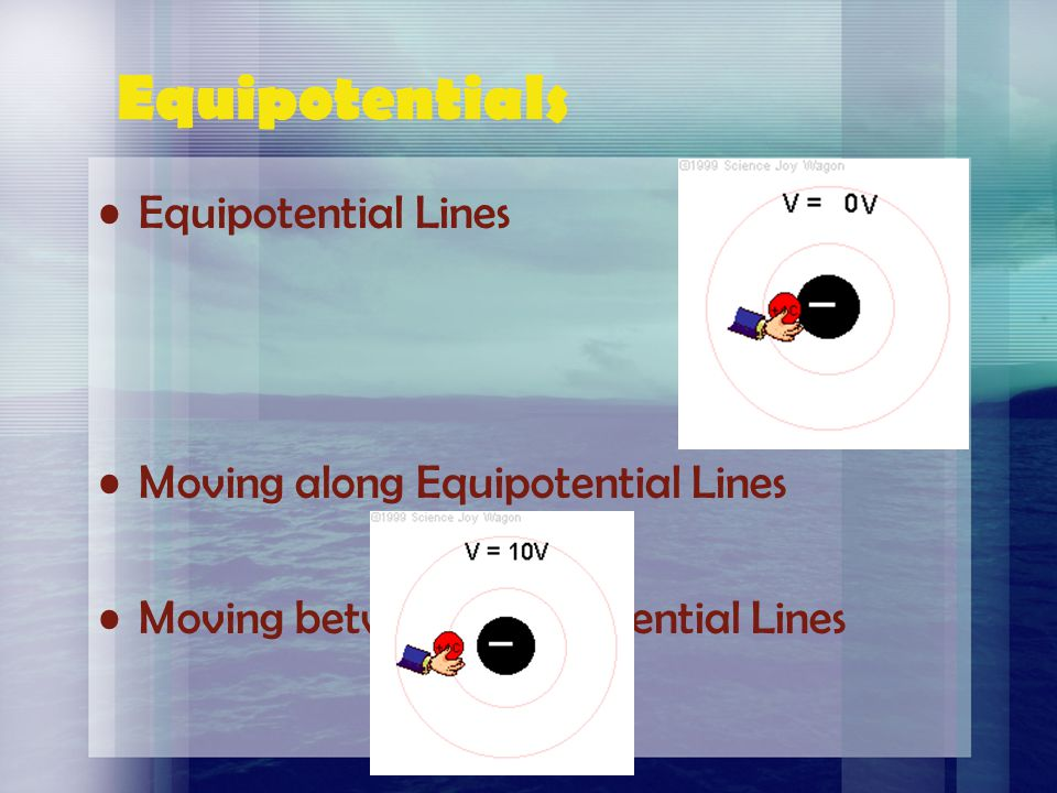 Equipotentials Equipotential Lines Moving along Equipotential Lines