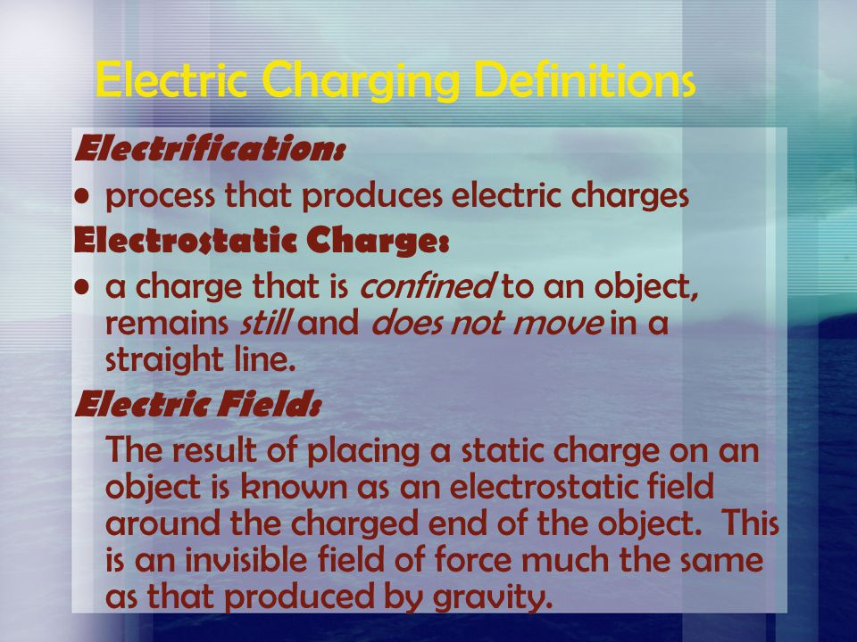Electric Charging Definitions