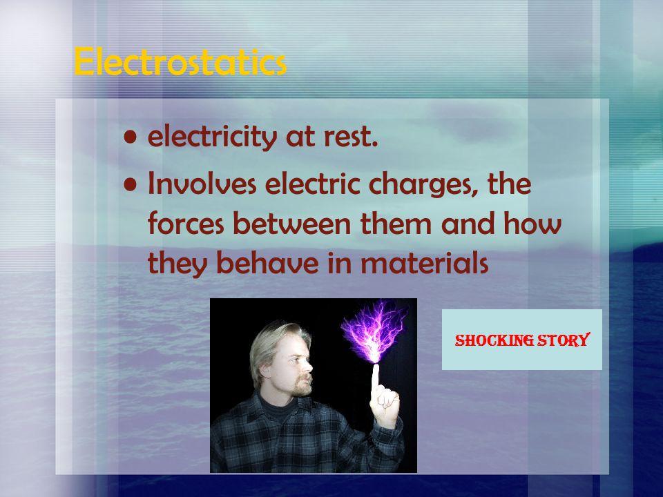 Electrostatics electricity at rest.