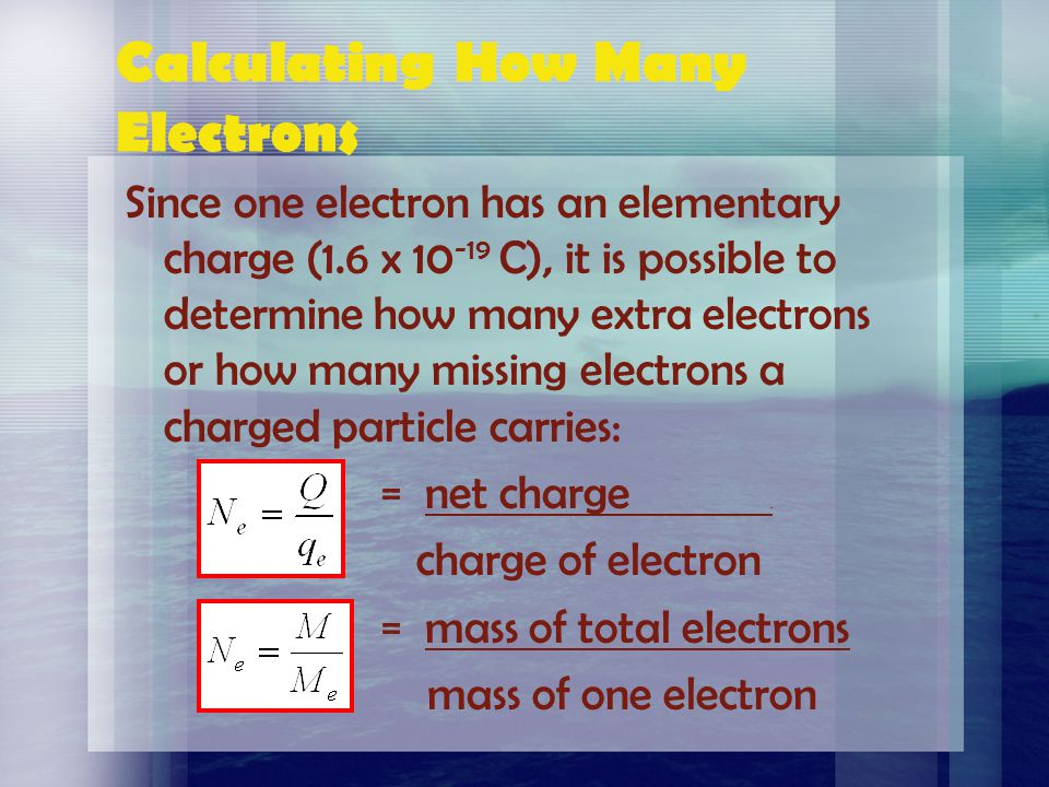 Calculating How Many Electrons
